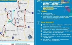 Mobil Pengantin Aturan Ganjil-Genap di Jakarta Diperluas Mulai 1 Agustus Karena Asian Games