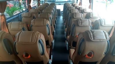 Interior bus pariwisata sembodo