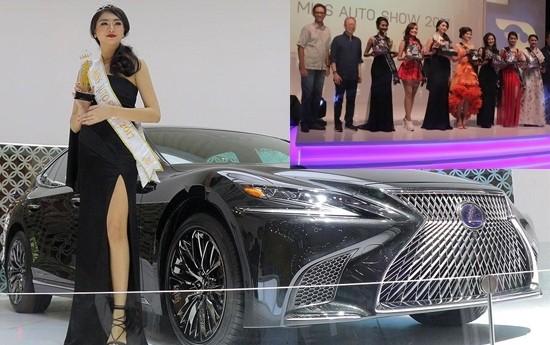 Sewa Agnes dari Lexus Raih Mahkota Miss Auto Show 2017