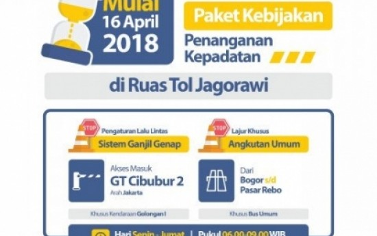 Sewa Sistem Ganjil Genap Juga Bakal Diterapkan di Tol Jagorawi dan Tangerang