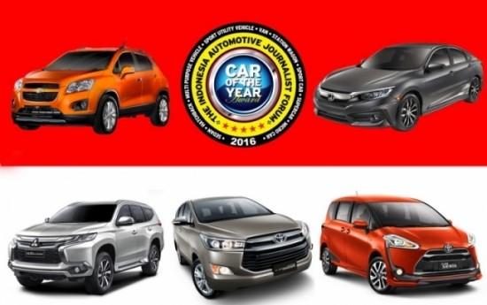 Sewa 5 Kandidat Mobil Terbaik Forwot Car of The Year 2016