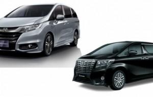 Mobil Pengantin Usaha Honda Odyssey Mengusik Toyota Alphard
