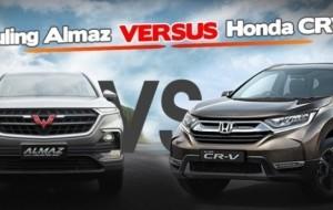 """Mobil Pengantin Honda CR-V Mulai """"Tersikut"""" Wuling Almaz"""