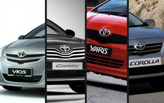 Sewa Toyota Recall 40.280 Camry, Corolla, Yaris dan Vios 2001-2008